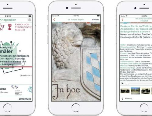 """Website für das App-Projekt """"Kriegsmäler in München"""" an der Eberhard Karls Universität Tübingen"""