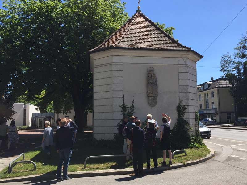 Kriegergedächtniskapelle bei Christkönig, Stadtrundgang am 01.07.2018, Foto: Sebastian Offergeld